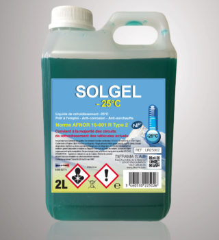 Liquide de refroidissement Solgel -25°C - 2 Litres