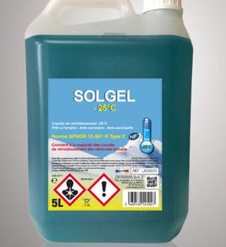 Liquide de refroidissement Solgel -25°C - 5 Litres