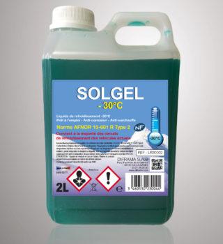Liquide de refroidissement Solgel -30°C - 2 Litres
