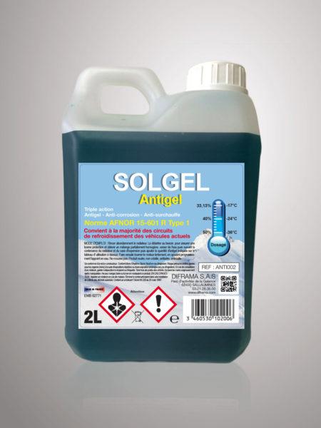 Liquide de refroidissement Solgel Antigel Pur - 2 Litres