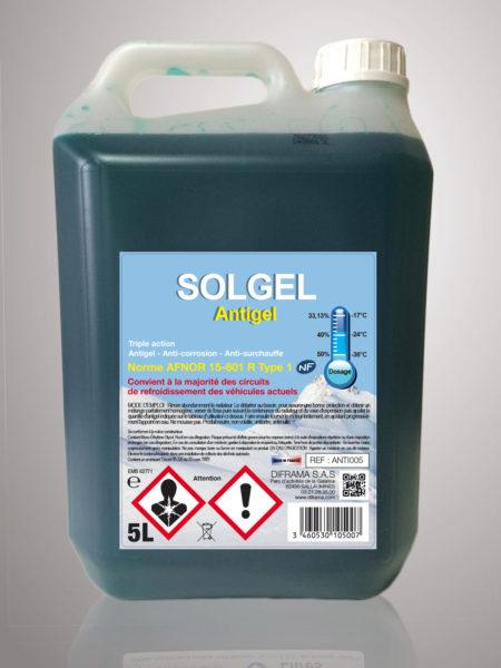 Liquide de refroidissement Solgel Antigel Pur - 5 Litres