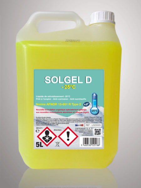Liquide de refroidissement Solgel D -25°C - 5 Litres