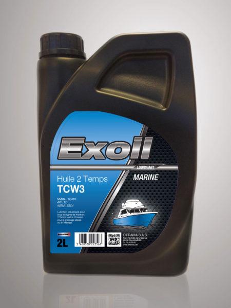 Exoil TCW3 Huile 2 Temps - Marine - 2 Litres