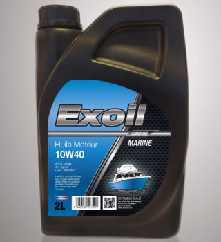 Exoil 10W40 Huile Moteur - In-bord - Marine - 2 Litres