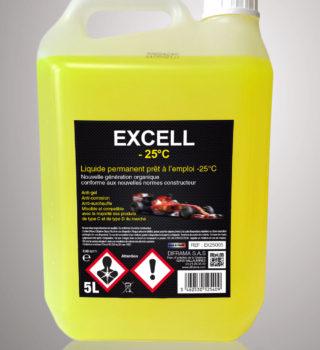 Liquide de refroidissement Excell -25°C - 5 Litres