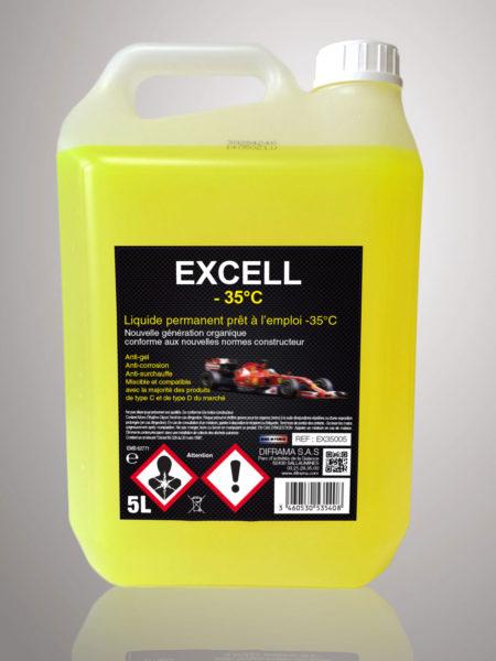 Liquide de refroidissement Excell -35°C - 5 Litres