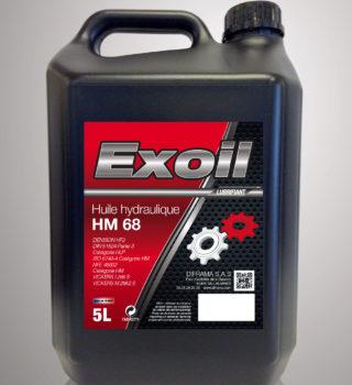 Huile hydraulique Exoil HM 68 - 5 Litres