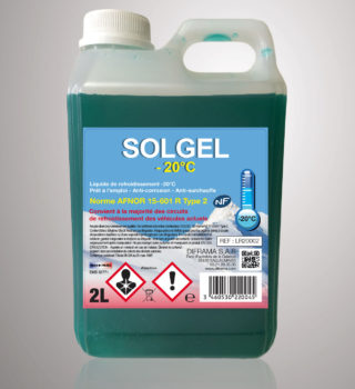 Liquide de refroidissement Solgel -20°C - 2 Litres