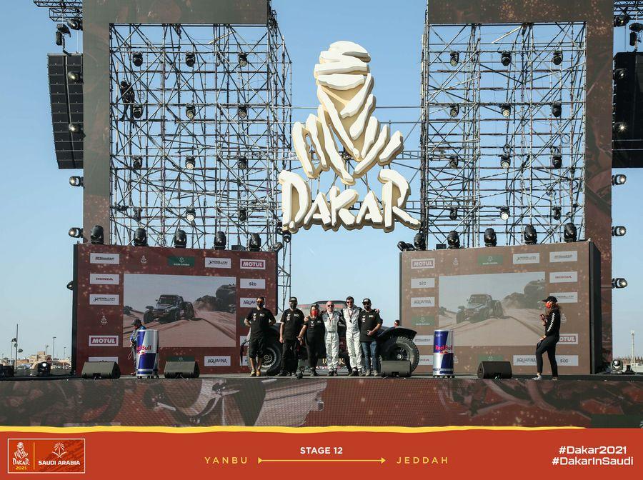 Podium Dakar 2021